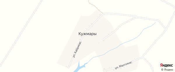 Улица Кайрикас на карте деревни Кужмар с номерами домов