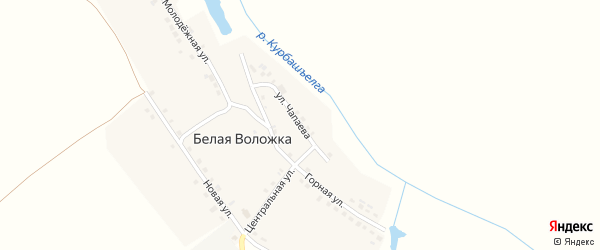 Улица Чапаева на карте деревни Белой Воложки с номерами домов
