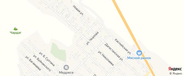 Улица Чкалова на карте Первомайского села с номерами домов