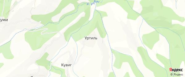 Карта села Уртила в Дагестане с улицами и номерами домов