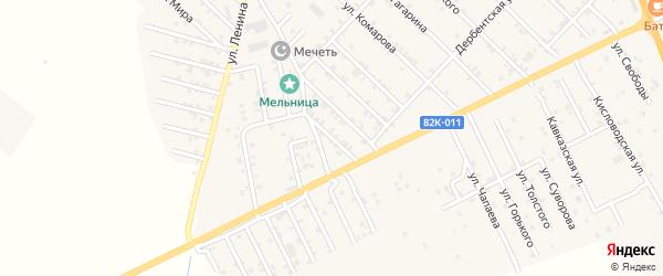 Улица Г.Далгата на карте Первомайского села с номерами домов