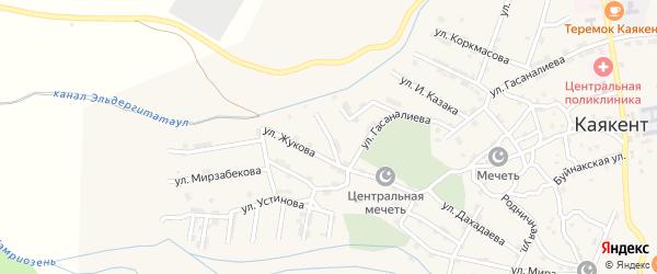 Батырая улица на карте села Каякента с номерами домов