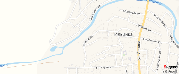 Степная улица на карте поселка Ильинки с номерами домов