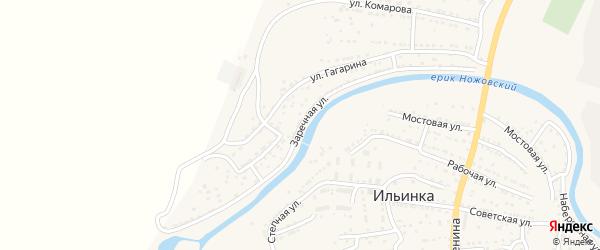 Заречная улица на карте поселка Ильинки с номерами домов