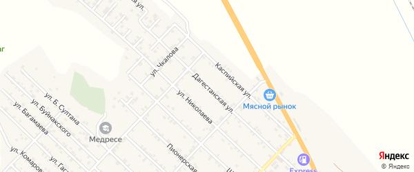Дагестанская улица на карте Первомайского села с номерами домов