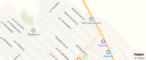Улица Николаева на карте Первомайского села с номерами домов