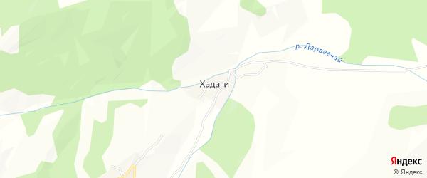 Карта села Хадаги в Дагестане с улицами и номерами домов
