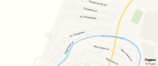 Улица Гагарина на карте поселка Ильинки с номерами домов