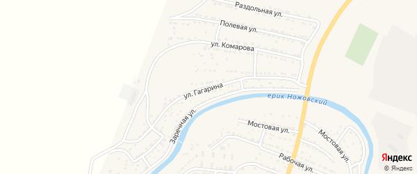 Переулок Гагарина на карте поселка Красные Баррикады с номерами домов