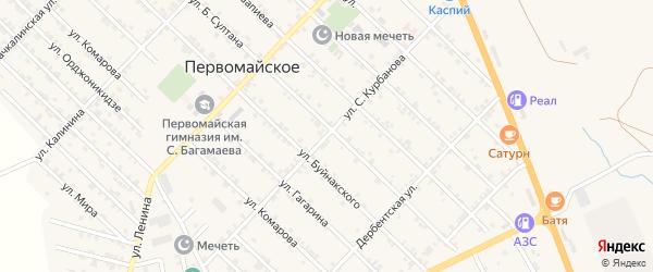 Улица С.Курбанова на карте Первомайского села с номерами домов
