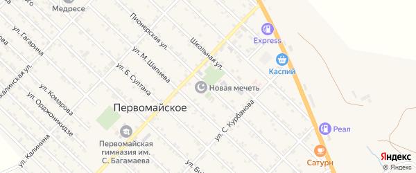 Пионерская улица на карте Первомайского села с номерами домов