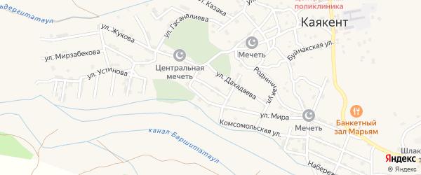 Улица Горького на карте села Каякента с номерами домов
