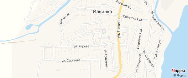 Улица Лермонтова на карте поселка Ильинки с номерами домов