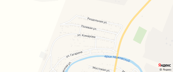 Улица Комарова на карте поселка Ильинки с номерами домов