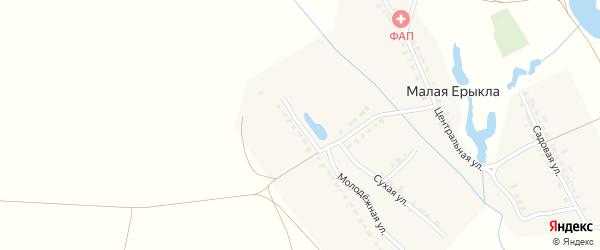 Молодежная улица на карте деревни Малой Ерыклы с номерами домов