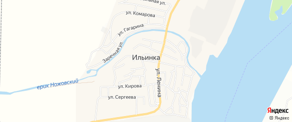 СТ Геофизик на карте поселка Ильинки с номерами домов