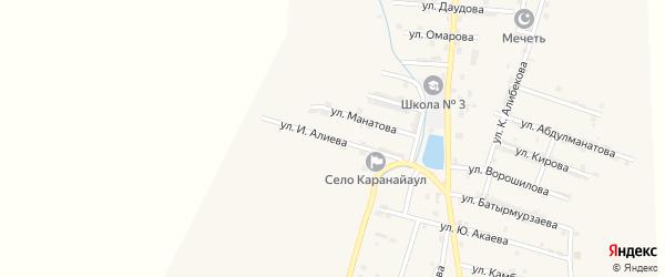 Улица И.Алиева на карте села Каякента с номерами домов