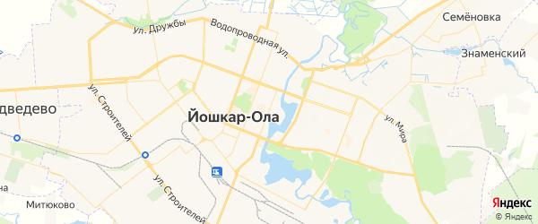 Карта Йошкар-Олы с районами, улицами и номерами домов