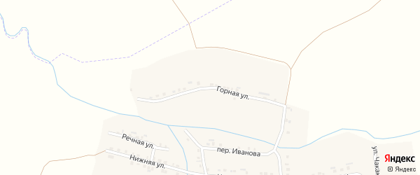 Горная улица на карте деревни Аранчеево с номерами домов