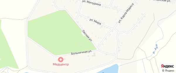 Лесная улица на карте деревни Арабосей с номерами домов