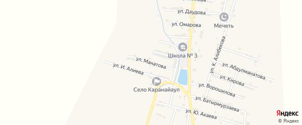 Улица Манатова на карте села Каякента с номерами домов