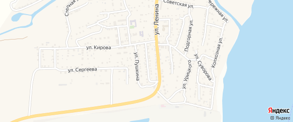 Пролетарская улица на карте поселка Ильинки с номерами домов