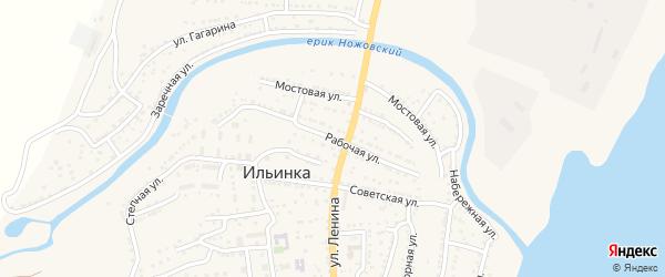 Рабочая улица на карте поселка Ильинки с номерами домов