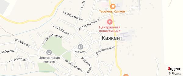 Улица Нурадилова на карте села Каякента с номерами домов