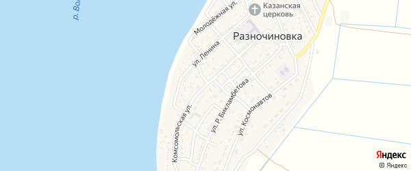 Комсомольская улица на карте села Разночиновки с номерами домов