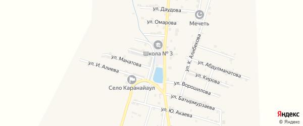 Улица Абдуразакова на карте села Каякента с номерами домов