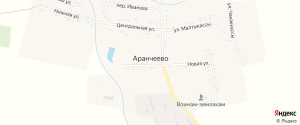 Нижняя улица на карте деревни Аранчеево с номерами домов
