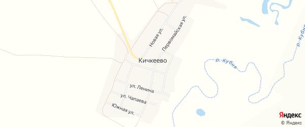 Карта деревни Кичкеево в Чувашии с улицами и номерами домов