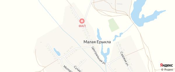 Центральная улица на карте деревни Малой Ерыклы с номерами домов