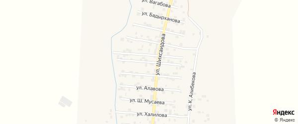 Улица К.Казбекова на карте села Каякента с номерами домов