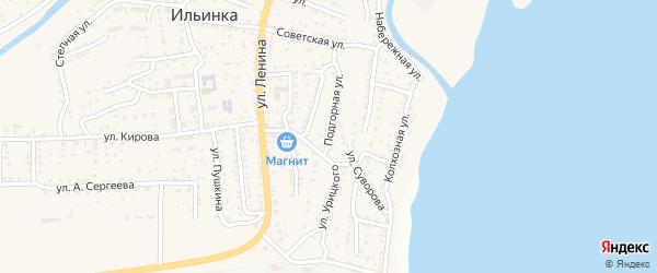 Улица Урицкого на карте поселка Ильинки с номерами домов