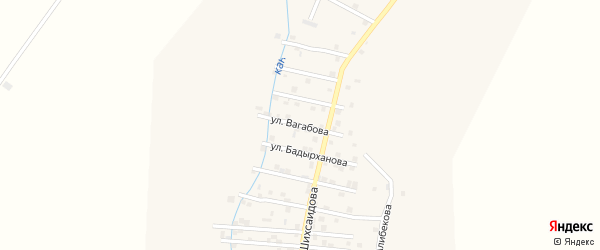 Улица К.Вагабова на карте села Каякента с номерами домов