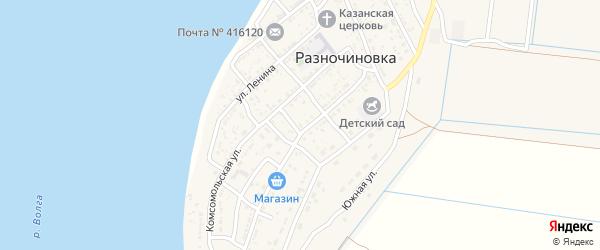 Береговой переулок на карте села Разночиновки с номерами домов