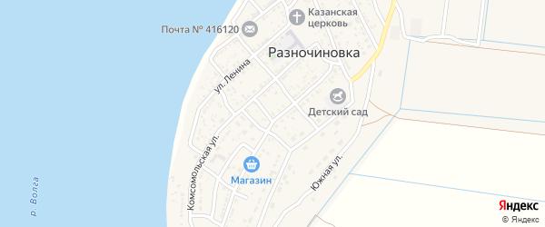 Улица Космонавтов на карте села Разночиновки с номерами домов