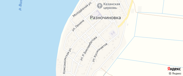 Молодежная улица на карте села Разночиновки с номерами домов