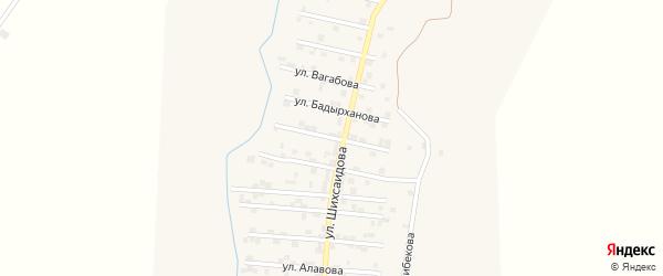 Улица А.Латипова на карте села Каякента с номерами домов