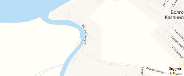 Светлая улица на карте Волго-Каспийского поселка с номерами домов