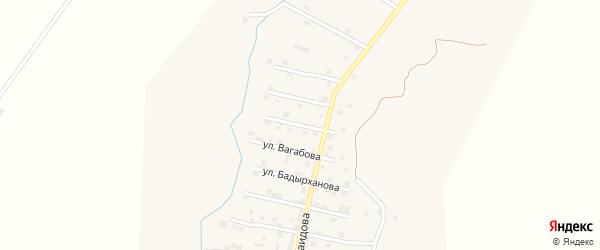 Улица Братьев Керимовых на карте села Каякента с номерами домов