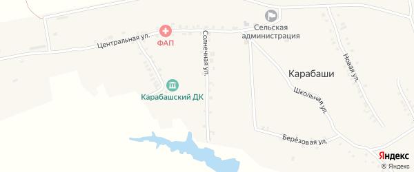 Солнечная улица на карте деревни Карабаши с номерами домов
