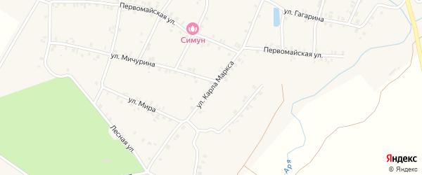 Улица К.Маркса на карте деревни Арабосей с номерами домов