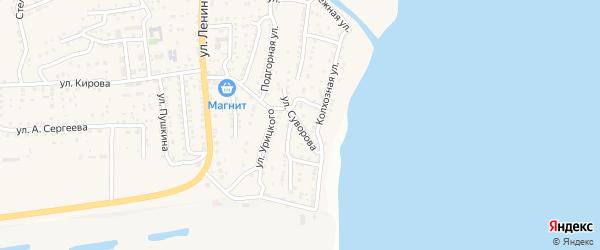 Улица Суворова на карте поселка Ильинки с номерами домов