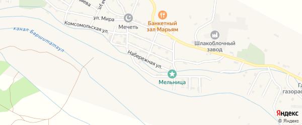 Набережная улица на карте села Каякента с номерами домов