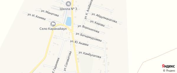 Улица Батырмурзаева на карте села Каякента с номерами домов