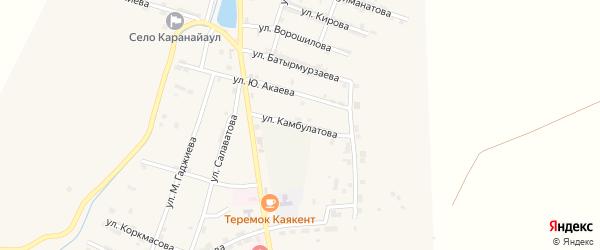 Улица Ш.Камбулатова на карте села Каякента с номерами домов