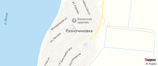 Улица Мира на карте села Разночиновки с номерами домов