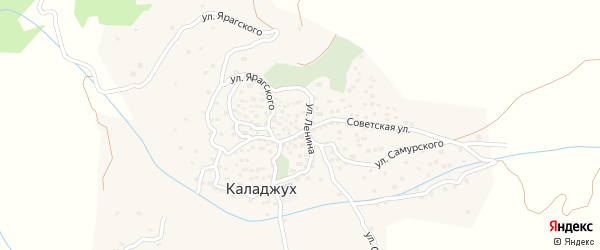 Улица Самурского на карте села Каладжуха с номерами домов